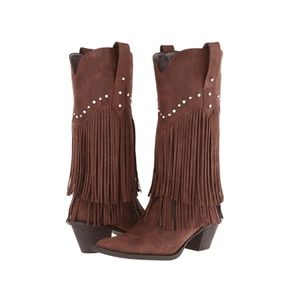 Roper Fringe Studded Cowgirl Boots Size 6 NWT